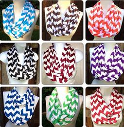 Discount cotton loops - Fashion Wave Strip Infinity Chevron Scarf Women Men Teens Circle Ring Loop scarf cotton winter warm scarves wraps collar