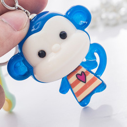 $enCountryForm.capitalKeyWord NZ - Cartoon monkey key chain jelly pendant pendant car key chain bag ornaments creative gift