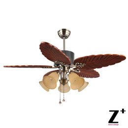 Traditional ceiling fans online shopping traditional ceiling fans southeast asia country style led lights ceiling wood leaf shape fan 48 5 lights lamp lighting free shipping aloadofball Gallery