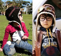 $enCountryForm.capitalKeyWord Canada - 120PCS HOT 2 colors children winter pilot hat Cute Baby for Boy Girl Kids Pilot Aviator Cap Warm Hats Earflap Beanie Melee D456