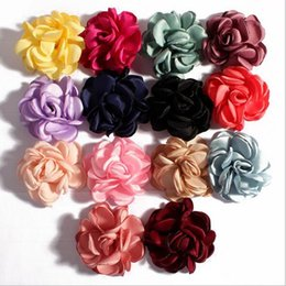 $enCountryForm.capitalKeyWord Australia - Rose Flowers Camellia With Fire-finished Edge Fit DIY Headband Hairclips Shoes Brooch Ornament Baby Girl Clothing Hair Accessories