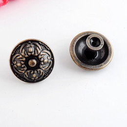 Discount bronze drawer handles - Wholesale- Free Shipping Retail 2PCs Jewelry Wooden Box Pull Handle Dresser Drawer For Cabinet Door Round Antique Bronze