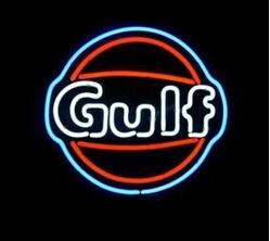 NeoN gas online shopping - Gulf Neon Sign Custom Handmade Real Glass Tube Gas Oil Station Store Shop Company Advertisement Display Neon Signs quot x14 quot