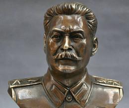 $enCountryForm.capitalKeyWord NZ - 6'' Russian Leader Joseph Stalin Bust Bronze Statue home decoration