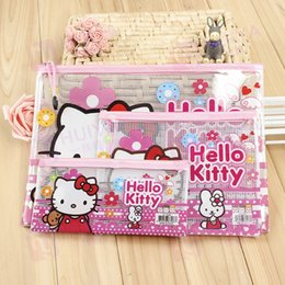 $enCountryForm.capitalKeyWord NZ - Wholesale Hello kitty A4 A5 B6 PVC grid bag zipper Storage document bag South Korea folder paper Protective Bags Wallets