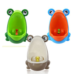 Wall Mounted Urinals UK - Free Shipping PP Frog Children Stand Vertical Urinal Wall-Mounted Urine Groove Kids Baby Urinal New Promotion Good Packing TY1499