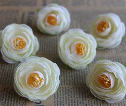 white camellia bouquet NZ - Silk Camellia Flower Head Dia. 4cm 500Pcs Artificial Flowers Tea Rose Rosebud for DIY Bridal Bouquet Wedding Photograph Props