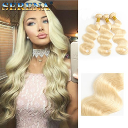 $enCountryForm.capitalKeyWord Australia - Serenahair 613 Blonde Virgin Hair Body Wave 3pcs brazilian Virgin Hair Peruvian Blonde Bundles human hair extension 7A cheap Weave #613