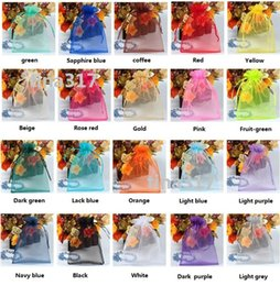 Yellow Grey Party Supplies Canada - 2016 new souvenir bag 500pcs 13x18cm 20 Colors jewelry gift pouch wedding organza bags Wedding Supplies Favor Holders Party Candy bag 1505