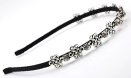 alloys chinese NZ - New Women Crystal Headband with Rhinestone Alloy Chinese Knot Hair Accessories Fashion High Quality Hair Jewelry for Wholesale