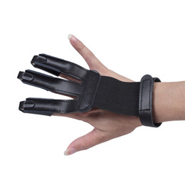 $enCountryForm.capitalKeyWord UK - Archery Protector 3 Finger Leather Gloves Shooting Gloves Finger Protector Fits for Hunting Compound Recurve Bow