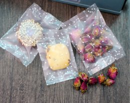 biscuit snack bags 2018 - New DIY 400pcs lot small white dots open top Snack bags Lovely Biscuits Bread Cookie Gift Bag 4 sizes Wholesale discount