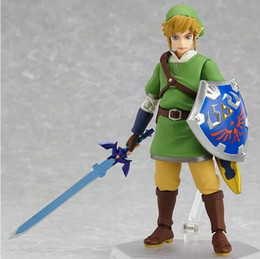 Link action figures online shopping - Anime Legend of Zelda Link with Skyward Sword Figma PVC Action Figure Collection Model Kids Toy approx cm