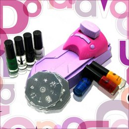 Machine À Ongles En Gros Pas Cher-art gros-Nail l'image estampage plaque de vernis à ongles kit de machine d'impression estampage définir dropshipping