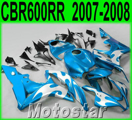 $enCountryForm.capitalKeyWord Canada - Injection molding popular bodykits for HONDA CBR600RR 07 08 fairings CBR 600RR F5 2007 2008 blue black silver plastic fairing kit KQ93