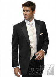 Barato Terno Azul Adaptado-Hot Men Suits Single Breasted Groomsmen Tuxedos Costurado Dois Botões Groom Ternos Negócios Ternos