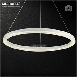 modern 26 pendant NZ - 26 inch LED Ring Light Fixture Crystal Pendant Light Modern LED Lighting White LED Lustre Suspension Drop Lamp