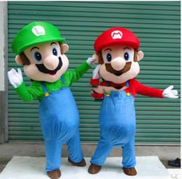 $enCountryForm.capitalKeyWord Canada - 2018 High quality Super Mario& Luigi 2 Mascot Costume Fancy Dress Cartoon Suit Adult Size gift
