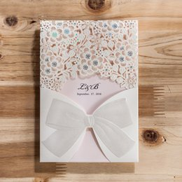 2016 New Arrival Laser Cut Wedding Invitations Card With Hollow For Party Supply Personalized Custom Free Printing Cards CW5186
