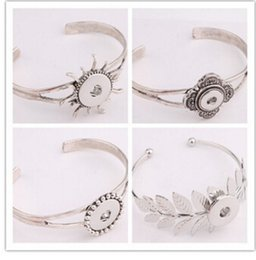 $enCountryForm.capitalKeyWord Canada - silver flower sun leaf 18mm snap button fashion jewelry accessories pendant bracelet Noosa buttons snap button giner button bracelet bangle