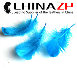 Dyed Goose Feathers Wholesale Canada - Leading Supplier CHINAZP Crafts Factory 8~15cm(3~6inch) Length Selected Top Quality Dyed Turquoise Goose Coquille Feathers