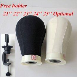 Responsabile della tela di canapa per la parrucca Fare Poly Mannequin Tela Foam Block testa 21