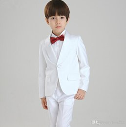 $enCountryForm.capitalKeyWord NZ - Children dress suit The boy leisure suit 2015 small white flower wedding suit formal occassion wear(jacket+pants+tie)