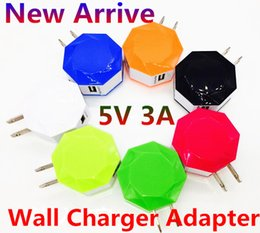 Wall Dual Ac Charger Canada - New Windmill Dual USB Wall US EU Plug 5V 3A AC Power Adapter Wall Charger for iphone 6 6S Samsung S6 Edge S7 HTC ipod ipad