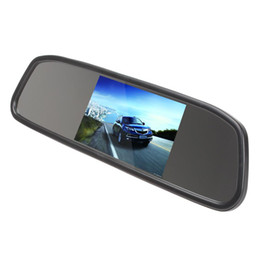 Discount video lcd screen - [Sale] [Sale] Univeral 4.3 Inch 480 x 272 Color Digital TFT-LCD Screen Car Rear View Monitor with 2 Video Input CMO_367