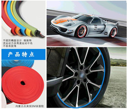$enCountryForm.capitalKeyWord Canada - 8 Meter Roll 3M Car Wheel Hub Tire Sticker Car Decorative Styling Strip Wheel Rim Tire Protection Care Covers Auto Accessories