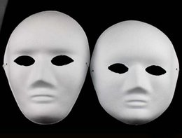 Face Masks For Painting NZ - Unpainted Thicken man Women Blank Masks For Decorating Environmental Pulp Full Face Mask DIY Fine Art Painting Masks 10pcs lot