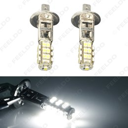 12v h1 bulb led Australia - 10pcs Pure White Car LED Bulb 3528 Chip 25SMD H1 LED Fog Light Lamp Parking 12V Car Headlight #4052