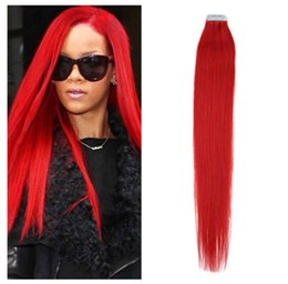 24 red tape hair extensions online 24 red tape hair extensions wholesale 5a 16 24 100 human hair pu emy tape skin hair extensions 25g pcs 40pcs100g set red hair dhl free pmusecretfo Choice Image