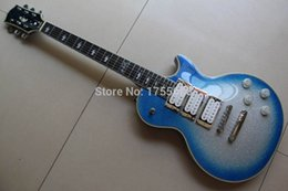 $enCountryForm.capitalKeyWord Canada - New highest quality Ace frehley signature 3 pickups Electric Guitar Flash Metallic silver   blue Free shipping #5 120715