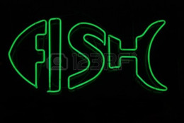 Wholesale Fish Neon Sign Real Glass Tube Bar Pub Store Business Advertising Home Decoration Art Gift Display Metal Frame Size X14