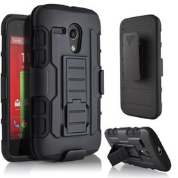 Hard clip Holster online shopping - Future Armor Impact Hybrid Hard Phone Case Cover With Belt Clip Holster Kickstand Stand for Motorola MOTO G G2 G3 X X2