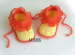 sale baby kid shoes Australia - Hot sale Baby Crochet Shoes Infant Snow Booties Kids nfants toddlers kids babies Cute Handmade 16pairs lot cotton yarn