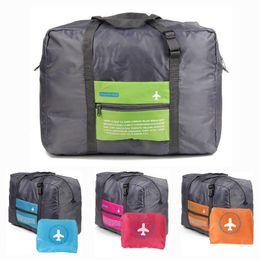 travel pouches for clothes 2019 - Wholesale- Storage Bag Suitcase For Shoes Clothes Luggage Case Shoe Bag Nylon Travel Portable Tote Shoes Pouch 46*19*37c