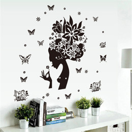 $enCountryForm.capitalKeyWord NZ - flowers fairy wall stickers tv background room decorations home decals removable mural art Wedding Room Christmas Decoration Wholesale