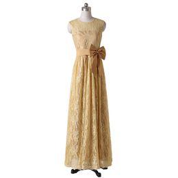 $enCountryForm.capitalKeyWord UK - 2019 Modest Lace Mother of the Bride Dresses Jewel Neck Sleeve Length Bow Long Floor Length Ladies Formal Gowns Zipper Back Custom M49