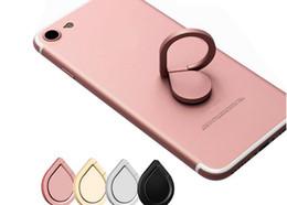 Venta al por mayor de Titular del soporte del teléfono móvil del anillo de dedo de 360 grados para el iphone 8x más Samsung HUAWEI Teléfono elegante Soporte del soporte del montaje del coche del iPad Gota de agua