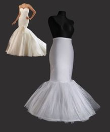 Mermaid Wedding Dress Slips Canada - Hot Sales In Stock 2015 Mermaid Petticoat slip 1 Hoop Bone Elastic Mermaid Wedding Dress Crinoline Trumpet Evening Dresses