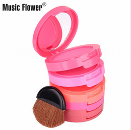 $enCountryForm.capitalKeyWord Australia - music flower Pressed Blush powder 5 Colors a set face makeup powder Blush powder with brush