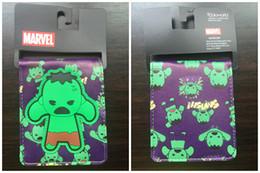Fresh Movies Canada - Marvel Movie Anime Wallets Incredible Hulk Men Wallets Short Slim Leather Purse Money Bags Cards Holder Billeteras carteiras