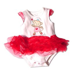 Pièces En Gros Jumper Bébé Pas Cher-Gros et de détail One Piece gâteau Petti de dentelle Romper Robe pour Fille Jumper Combinaison Summer Infant New Born tenues Bebe Vêtements Porter