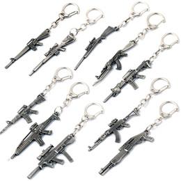 $enCountryForm.capitalKeyWord Canada - 10 Style Guns Keychain Retro Mini Gun Metal Key Chain For Unisex Cool Gifts Fashion Jewelry