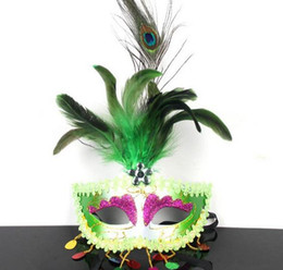 Discount peacock ball - New Italian party sequins tassel peacock feather mask sexy women lady Halloween Christmas fancy dress ball Easter masks