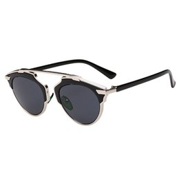 f6b4741db72 Wholesale-Hot sale New Good Quality 2015 Fashion Summer Women Sunglasses  Christian Designer Cat Eye Vintage Mirror Lens 1pc