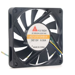 H Case Australia - Y.S.TECH FD127010HB-H 7010 70mm x 70mm x 10mm Cooler Cooling Fan 12V 0.30A 4Pin
