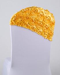 $enCountryForm.capitalKeyWord Canada - Free EMS DHL 100pcs Luxurious Ornament Elastic Wedding Chair Cover Sashes Sash Chair In A Hat Cap Party Banquet Decoration